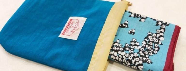 ナイロン素材の巾着袋♪